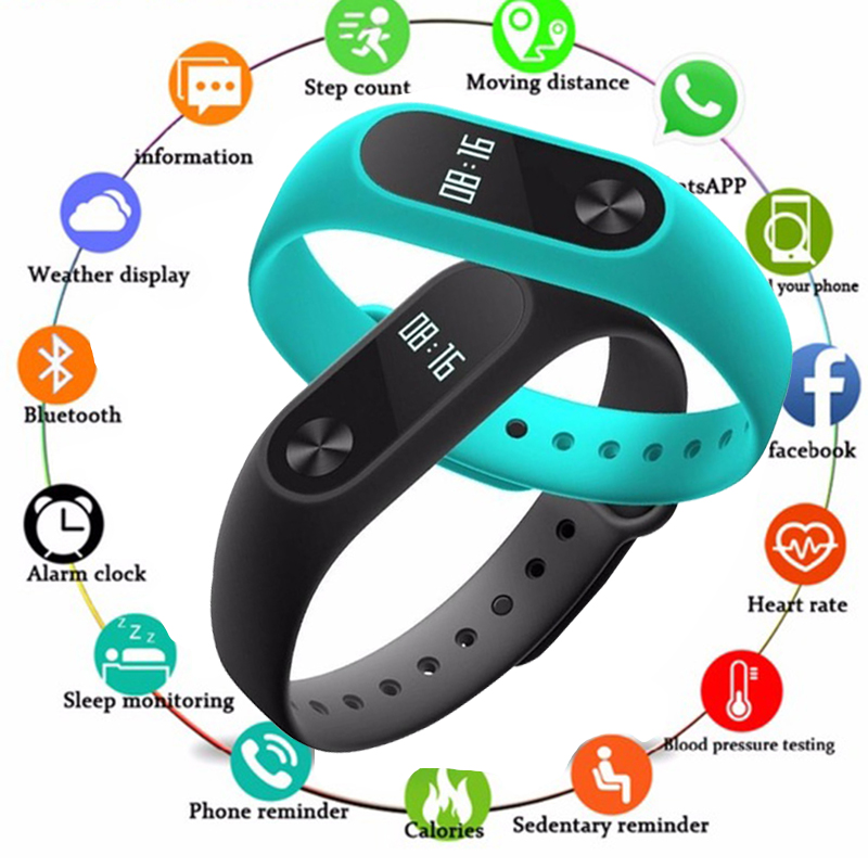 waterproof rate ip67 in hours - TOLASI Mens Waterproof IP67 M2 Watch+Watchbands Fitness Heart Rate Monitor Blood Pressure Pedometer Bluetooth Smart Wristband