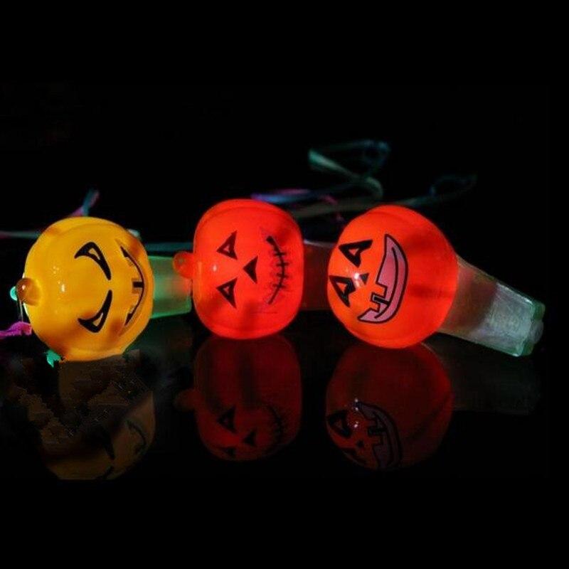 Clever Neue Kürbis Led Pfeifen Augapfel Blinkende Pfeife Horn Noise Maker Kinder Spielzeug Geschenk Halloween Glow Party Liefert Hochzeit