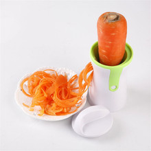 Kitchen Cooking Tools Graters Carrot Cucumis Sativus Slicer Spaghetti Pasta Kitchen Vegetable Spiralizer Handheld Spiral Cutter