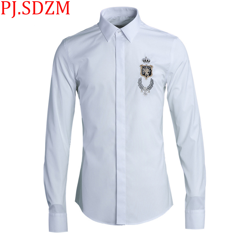 Free shipping plus size men shirt XXL 8xl casual Linen cardigan man military embroidered shirts stand