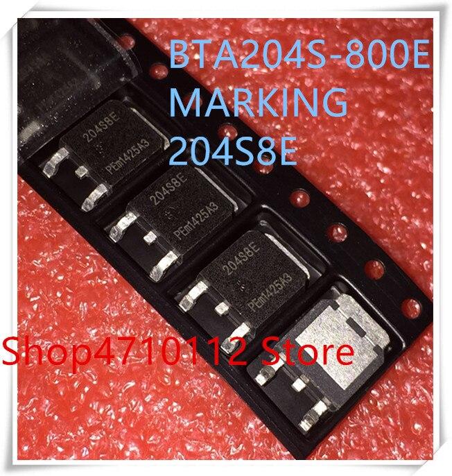 NEW 10PCS/LOT BTA204S-800E BTA204S-800 MARKING 204S8E TO-252 IC