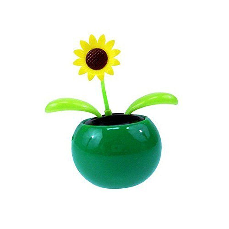 2019 NEW Solar Dancing Flower - Sunflower, Mini Funny Toy Great As Gift Or Decoration Ship