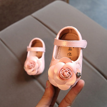 Flowers Girls Leather Shoes 2018 Spring And Autumn Baby