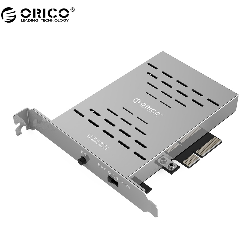 ORICO PRS2 Desktop PCI-E M.2 Disk Array Card SSD Stainless Steel High-speed Raid Hard Drive Expansion Card купить дешево онлайн