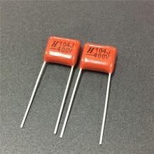 10pcs CBB capacitor 104 400V 104J 0.1uF 100nF P10 CL21 Metallized Polypropylene Film Capacitor