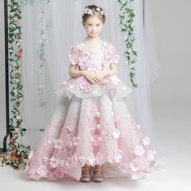 3c2e2e75 Mother Daughter Dresses 2018 Spring Winter Parents Children Outfit Family  Matching Mom and Daughter Wedding Dress Kids Outfits