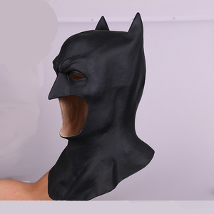 Image 2 - 2018 חדש גיבור באטמן ויין קוספליי Balck לטקס קסדת עיניים מסכות ליל כל הקדושים ברדסי מסיבת אבזרי תחפושת למבוגרים
