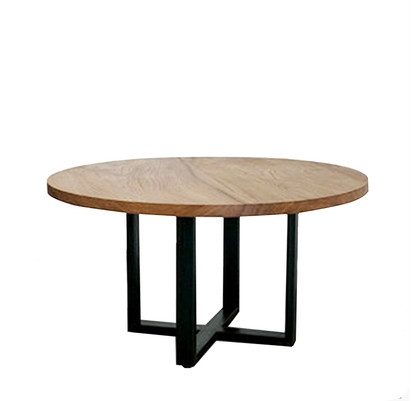 LOFT Wood Dining Table Large Circle Round Table Dinner Tables, Rustic  Wrought Iron Garden Tables Industrial Tables Small Living In Dining Tables  From ...