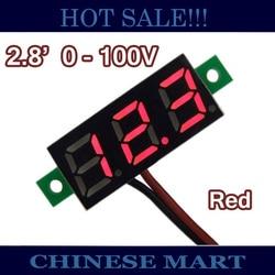 Slim three wire access 0 28 voltage test meter dc 0 100v red digital voltmeter for.jpg 250x250