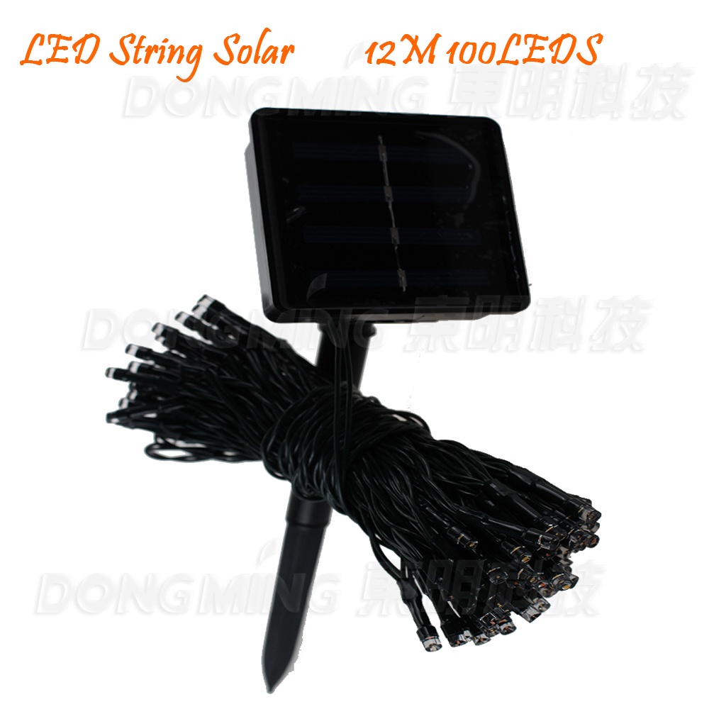 Solar Christmas Lights 12m 100 LED 3 Modes Solar Fairy String Light for Outdoor,Garden,Home,Wedding Party decoration Waterproof