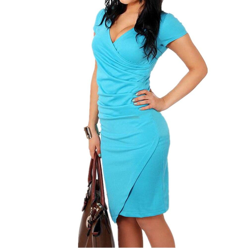 SEBOWEL 2017 Vestido Ladies Office Formal Work Dresses Women Short ...