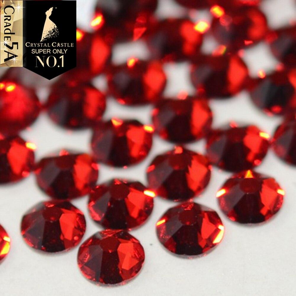 Crystal Castle 1440Pcs 6A AAAAAA Best Rhinestones For Clothing Flatback Hotfix Rhinestones Glass Crystal 2078 Strass Hot fix