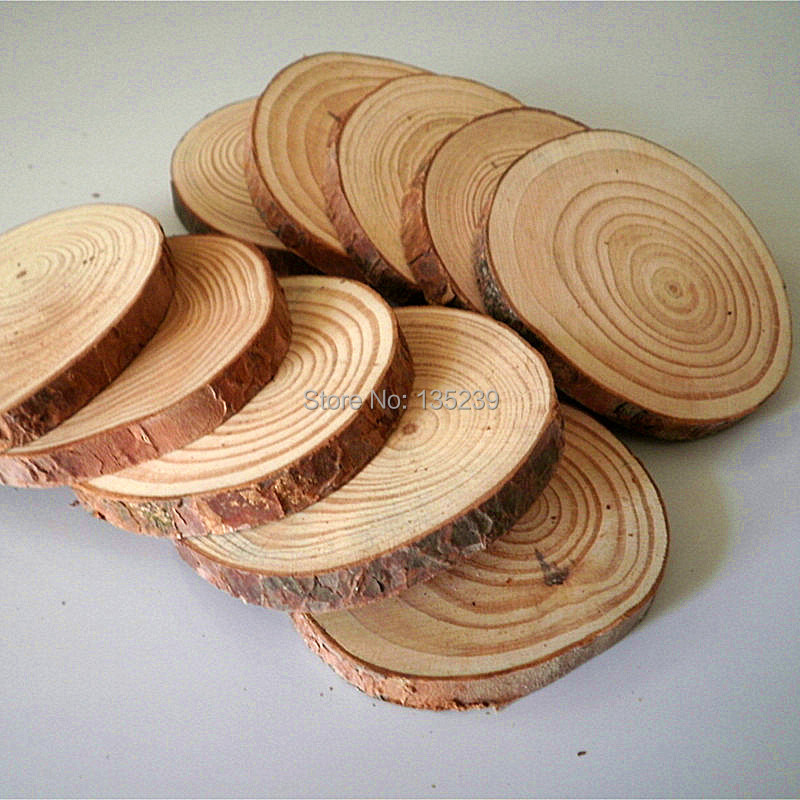 Rustic Tree Bark Coaster Set Of 6 Pcs Wood Blank Slice Round In Party Diy Decorations From