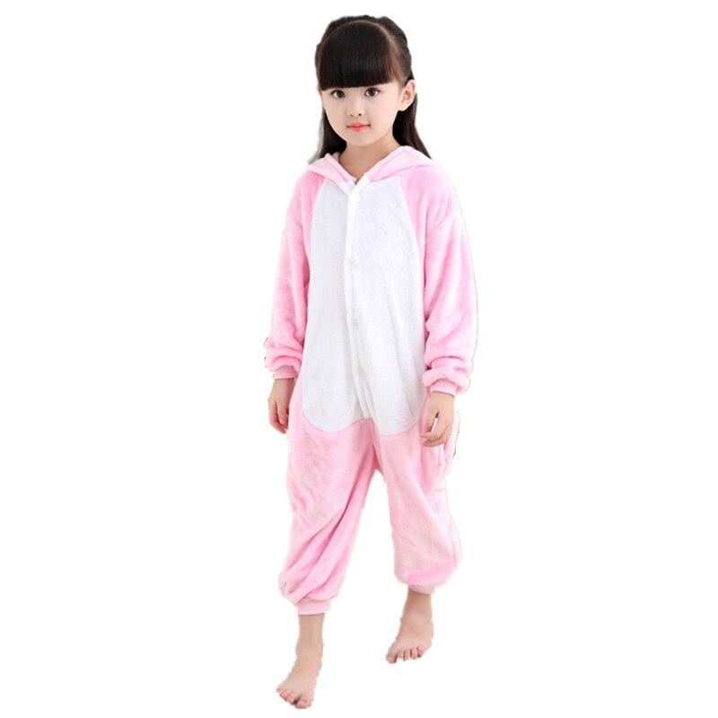 DOUBCHOW Kids Pink Pig Costume Pajamas Animal Onesie Children's Halloween Christmas Lounge Wear Cosplay Japanese Anime jumpsuits