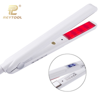 2018 new professional infrared hair care iron Ultrasonic recover damaged iron hair treatment with LED display white styling tool