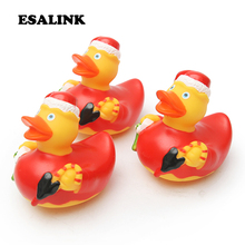 3 PCS Christmas duck Bath Toys in the Bathroom Baby floating ducks gift for Children Water Spray Animal Soft Rubber Duck