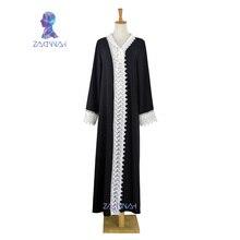 Free shipping latest women arab lace abaya kaftan islamic fashion muslim dress clothing design women black dubai abaya