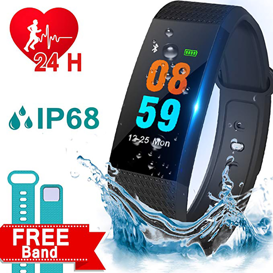 Bluetooth 4.0 Heart Rate Monitor Smart Watch Men for Android iOS Long Standby USB Charging Sport Pedometer Watches Women smart bracelet usb charging with heart rate monitor smart watch men for android ios sport watch waterproof pedometer watch