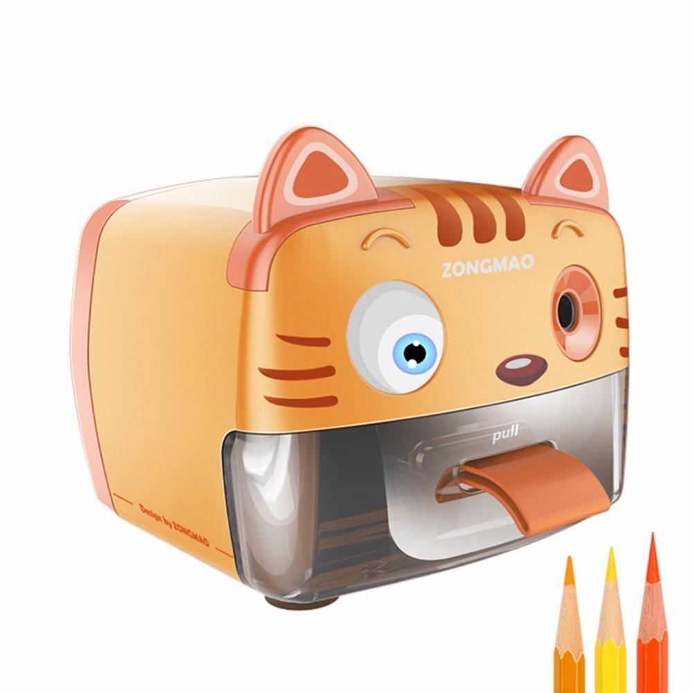 JY-007/008 Zhanli Mou Pupil Motor-driven Sharpener Fully Automatic Pencil Small Knife Child >6 years old Electronic TOUCHNEW driven to distraction