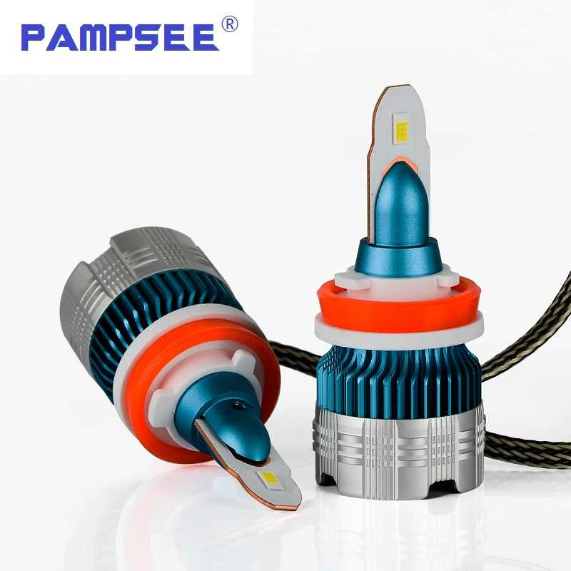 PAMPSEE h7 led H4 headlights h1 led bulb car light h3 hb4 h11 led lamp for auto 12V h27 880 9006 9005 hb3 h9 h8 h13 HB5 60W bulb