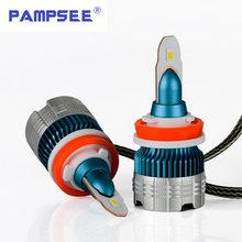 PAMPSEE h7 led H4 headlights h1 led bulb car light h3 hb4 h11 led lamp for auto 12V h27 880 9006 9005 hb3 h9 h8 h13 HB5 60W bulb(China)