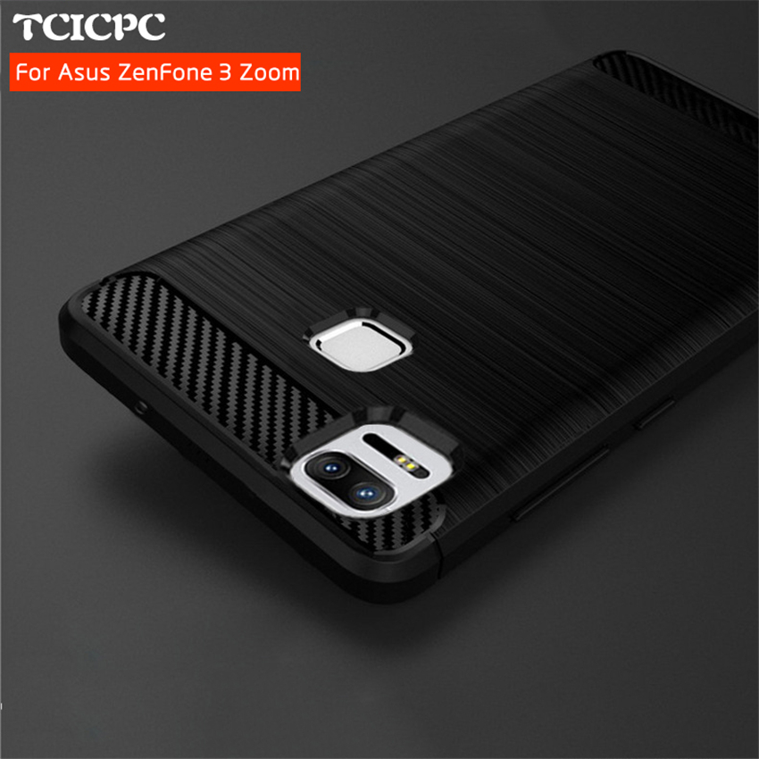 size 40 9a52b 188ed US $4.99  TCICPC For ASUS Zenfone 3 case cover Luxury 360 full body cover  for Asus zenfone 3 Zoom ZE553KL Brushed silicon TPU case-in Fitted Cases ...