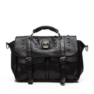 Punk Style Skull Rivet Tote Bag PU Leather