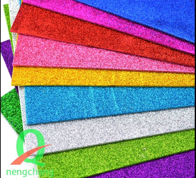 Multicolor EVA Sponge Glitters Foam Paper For Background Fold Scrapbooking Paper Craft Punch Stamping DIY Gift Decor Punchers