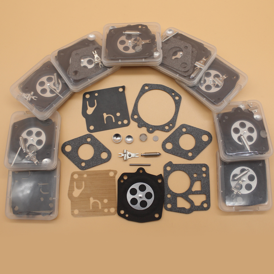 10Kit lot Carburetor Diaphragm Repair Kit For HUSQVARNA 61 66 162 165 265RX 266 268 181 281 272XP 2100 Tillotson RK-23HS RK-17HS