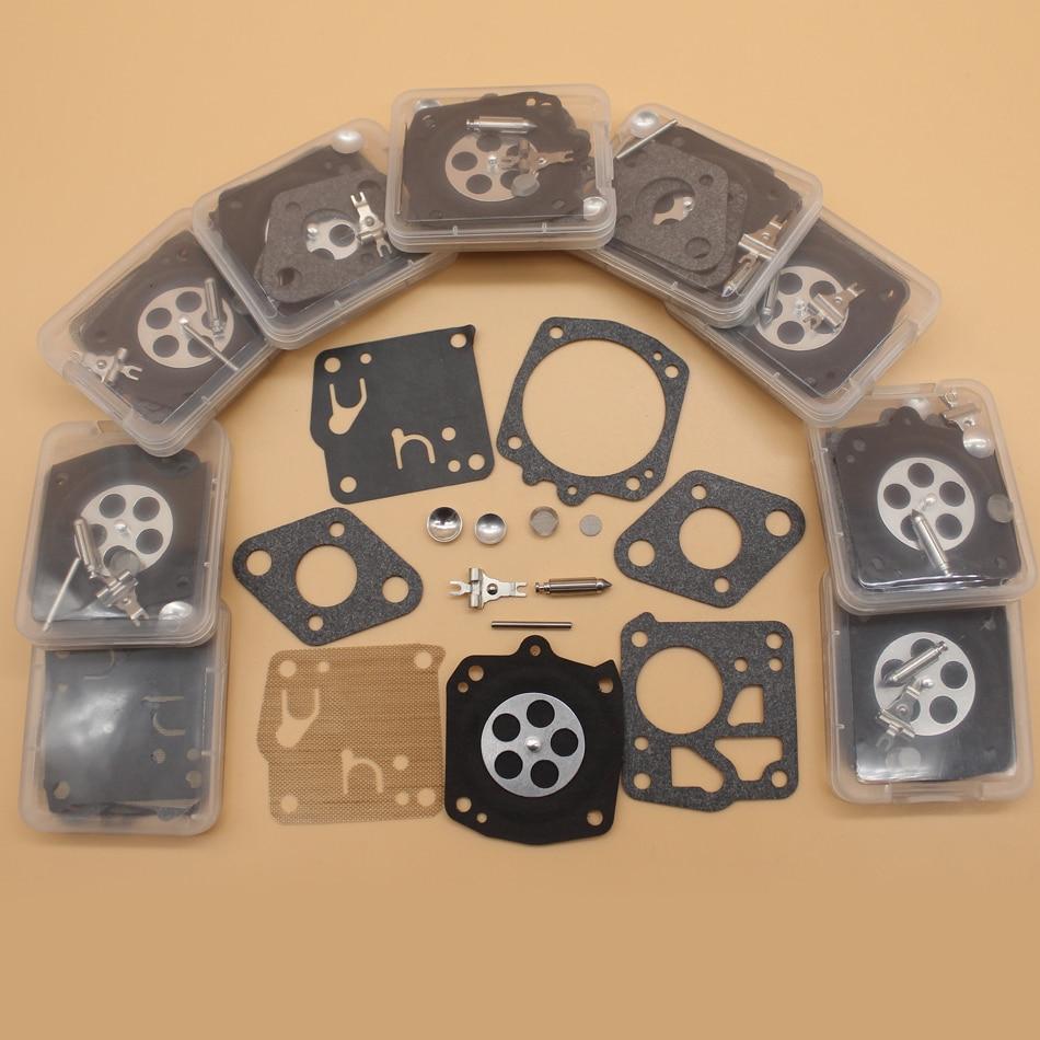 10Kit/lot Carburetor Diaphragm Repair Kit For HUSQVARNA 61 66 162 165 265RX 266 268 181 281 272XP 2100 Tillotson RK-23HS RK-17HS