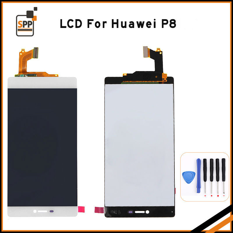 LCD screen replacement for Huawei P8 LCD display touch digitizer complete assembly repair pantalla 5.2 black white gold+tools white black original lcd for apple ipad mini 4 lcd display touch screen digitizer glass bezel complete assembly pantalla repair