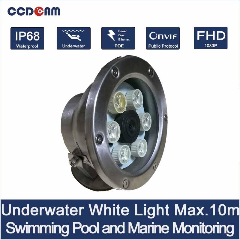 CCDCAM 1080 P 10 Mt Unterwasser Kamera POE power weißes licht unterwasser kamera
