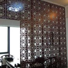 Модный подвесной экран стильная простота пронзенная подвесная мягкая перегородка китайский вход barrierWood экран