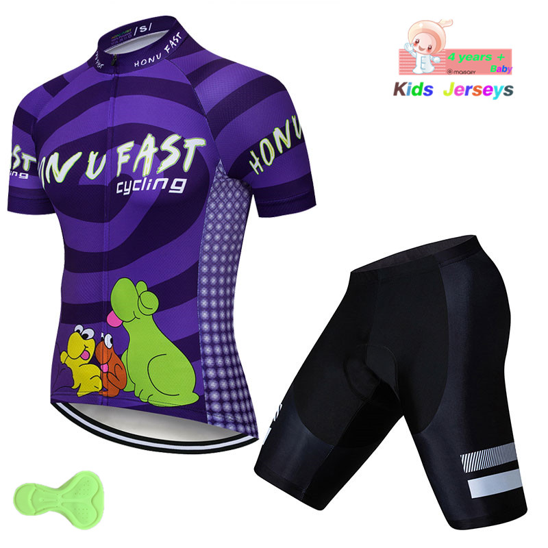 2019 Cycling Jerseys Child Cycling Clothing Set Maillot Ropa Ciclismo Racing Sport Jersey Cycling Boy Bike Wear Short Sleeves