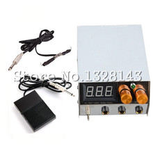 Professional Digital LCD Tattoo Power Supply+Foot Petal+Clip cord For Tattoo Machine Gun Needle Ink Grip Kits Feee Shipping