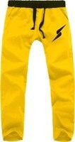 Men Pants Long Hood Teenage Free Shipping Boys Autumn Spring Lighting Logo Awesome New Fashion Hip