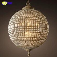 Фумат современные светодио дный люстры американский Винтаж Хрустальный шар лампы для гостиная обеденная бар книги по искусству Декор