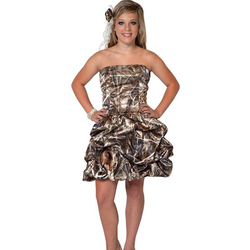 realtree MAX-4 wetland camo   prom     dresses   short 2017 camouflage cocktail party   dress