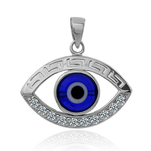Fashionable Turkish Style Blue Black Eye Necklace Pendant Men And Women 925 sterling  silver evil eye pendant fb7c029dee
