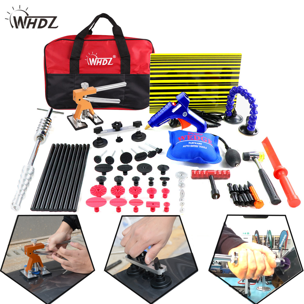 WHDZ PDR Tools Kit Paintless Dent Repair Tools Dent Removal tool Car Dent Repair Straightening Dents Instruments Ferramentas dent puller kit pdr tools paintless dent repair removal tool car straightening instruments hand tool set ferramentas suction cup