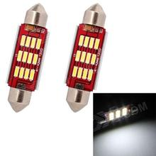 Car Reading Lamp 41mm 42mm LED 6W 240LM 6500K 7014 12-SMD  White Light Festoon(12V / 2 PCS)