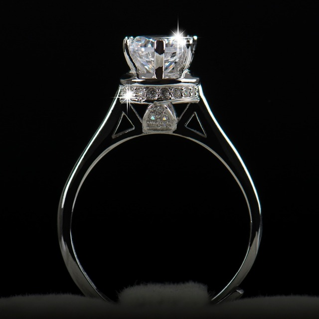 Ring Cubic Zirconia Real Soild silver rings