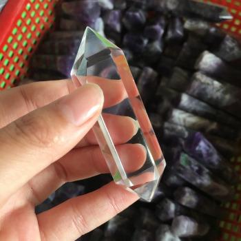 Aaa+ natural quartz crystal clear crystal wand point for healing stones