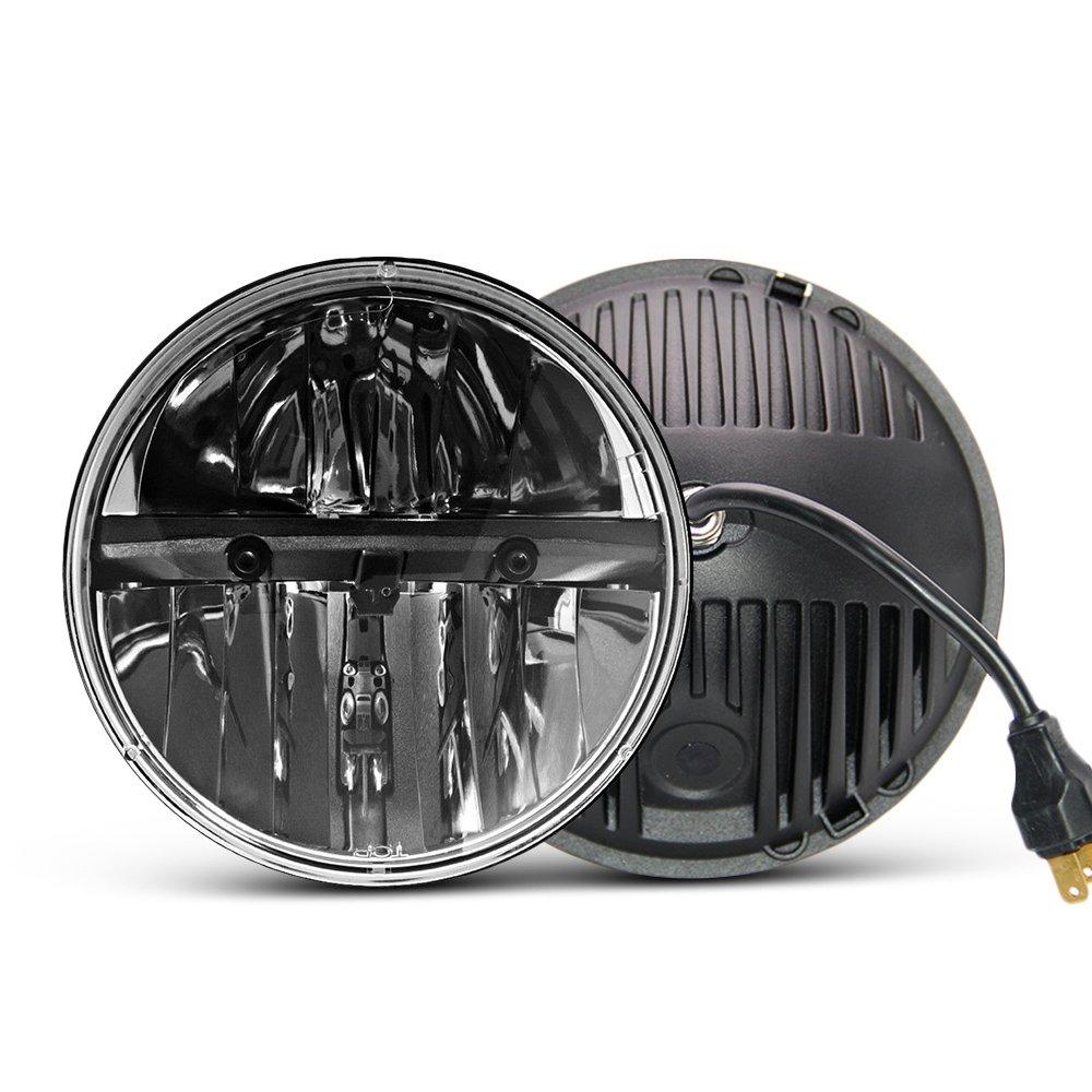 Светодиодная круглая фара 7 дюймов, 2 шт., E MARK, 6000 К, Hi/lo, лампа для Jeep Wrangler JK TJ LJ Harley Bike