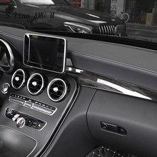 لوحة التحكم المركزية لتصفيف السيارة ، غطاء لوحة التحكم بمنفذ الهواء ، ملصقات زخرفية لسيارة Mercedes Benz C Class W205 180 200 GLC X253 ملحقات