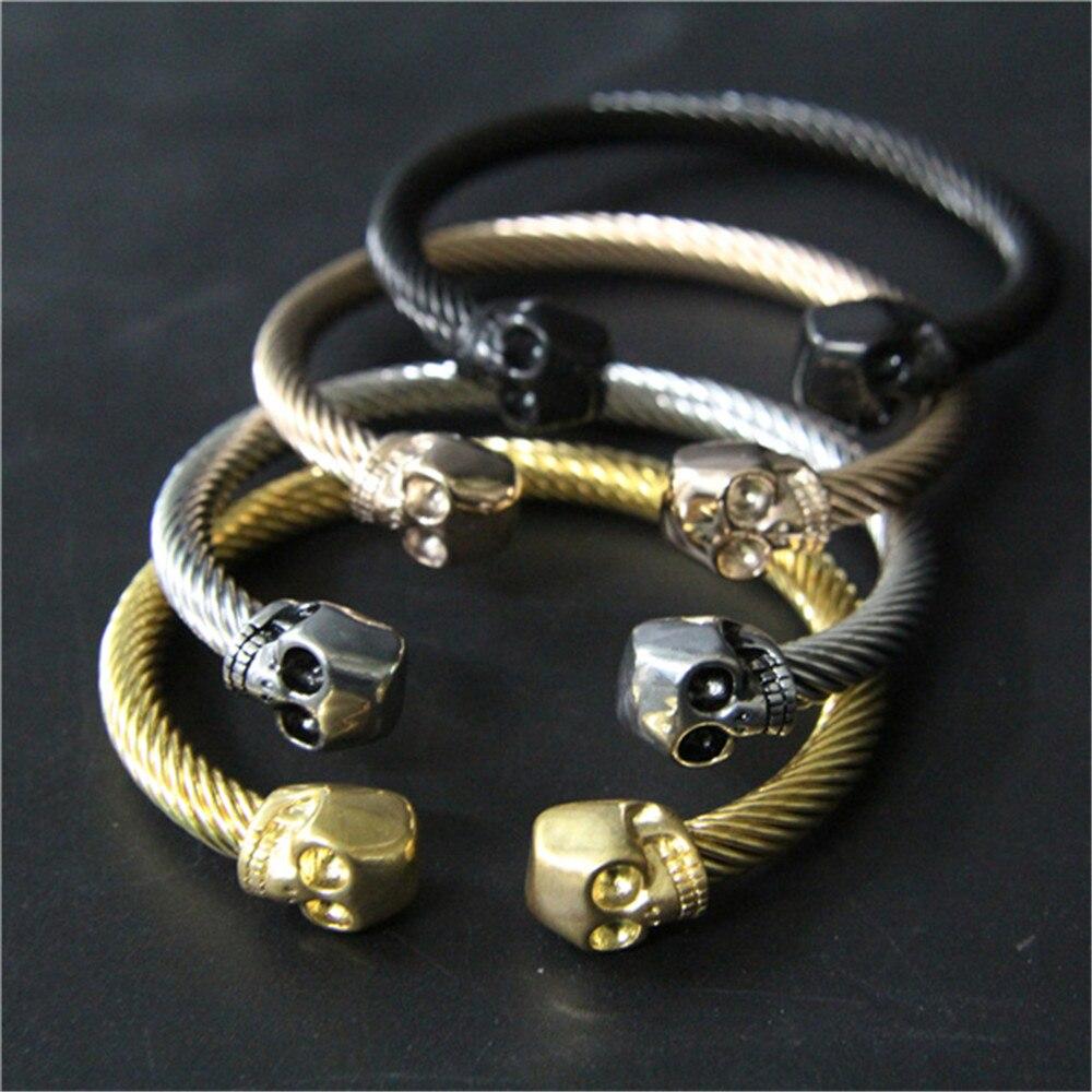 1 St Ondersteuning Dropship Nieuwe Ontwerp Rock Man Schedel Armband 316l Rvs Fashion Biker Armband