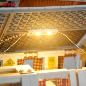 Image 5 - طقم إضاءة ليد ذاتي الصنع من MTELE لسلسلة الخالق ، طقم مصباح شاحنة T1 متوافق مع 10220 21001