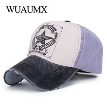 Wuaumx Spring Summer Baseball Caps For Men Hats Women Five Pointed Star Outdoor Sports Snapback Hat Mens Wash Cap