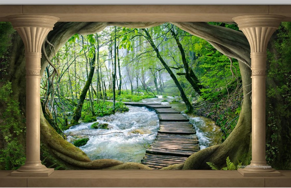 Buy 3d mural wallpaper landscape for 3d murals for sale