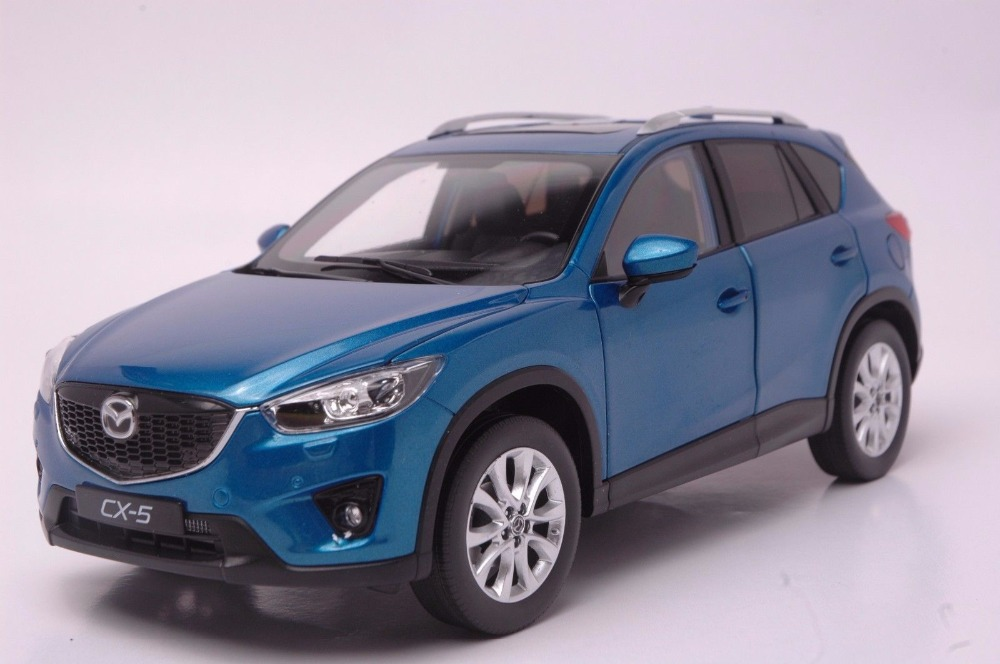 1:18 Diecast Model for Mazda CX 5 2014 Blue SUV Alloy Toy Car Miniature Collection Gift CX5 CX 5
